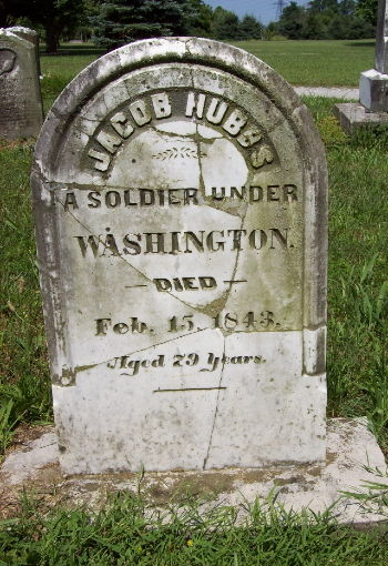 Pictures of their tombstones are shown below.  Jacob Hubbs married...